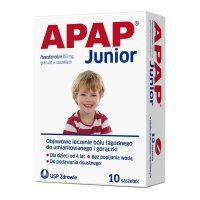 Apap Junior 250mg, 10 saszetek