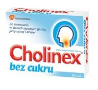 Cholinex 150mg, bez cukru, 16 pastylek do ssania