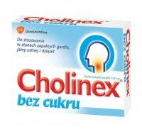 Cholinex 150mg, bez cukru, 24 pastylki do ssania