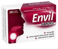 Envil Gardło 1,5mg+1mg+17,42mg, 20 tabletek do ssania