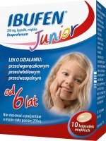 Ibufen Junior 200mg, 10 kapsułek