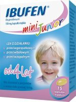 Ibufen Junior mini 100mg, 15 kapsułek