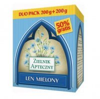 Len mielony Duo Pack, 200 g + 200 g