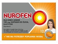 Nurofen Junior 100mg, 12 kapsułek do żucia