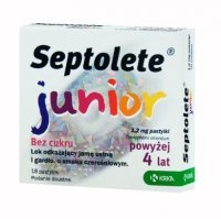 Septolete Junior 1,2mg, 18 pastylek