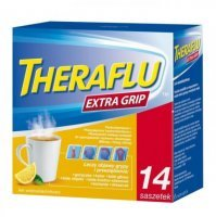 Theraflu Extra Grip (650mg+10mg+20mg), 14 saszetek
