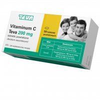 Vitaminum C Teva 200mg, 50 tabletek