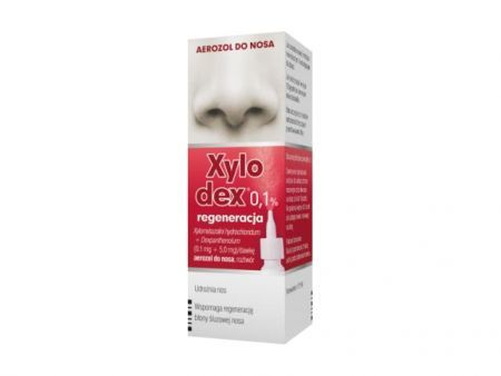Xylodex 0,1%, 0,1mg+5mg, aerozol do nosa, 10ml